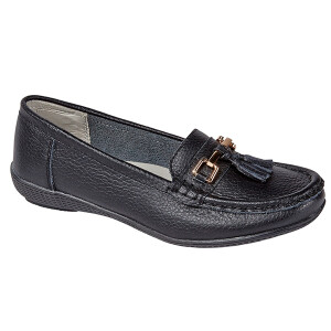 Classic Slip On Leather Loafer Black