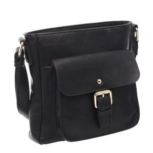 Ladies Cross Body Satchel Bag Black