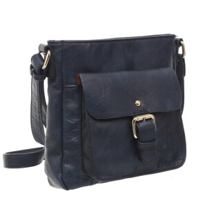 Ladies Cross Body Satchel Bag Navy