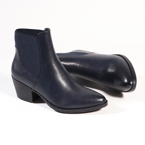 Ladies Heeled Chelsea Boot Navy