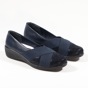 Crossover Front Detail Comfort Shoe Navy