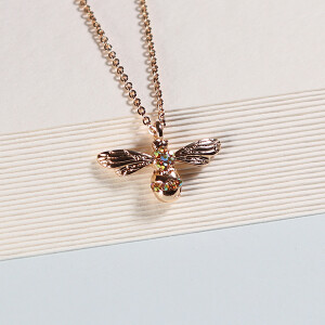 Short Gold Bee Necklace