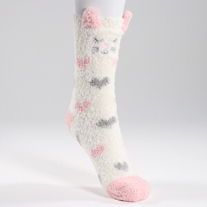 Ladies Novelty Character Cosy Socks Cat