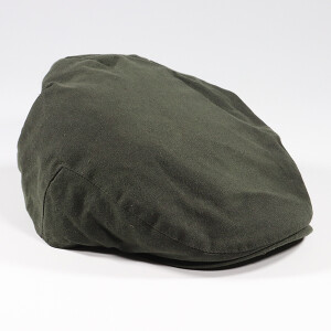 Men's Waxed Flat Cap Olive