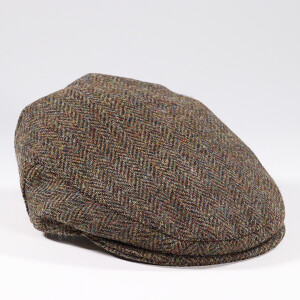 Men's Harris Tweed Flat Cap Olive