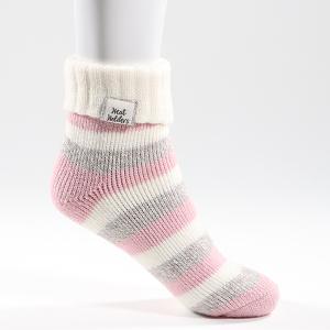 Ladies Heat Holder Sleep Socks Grey