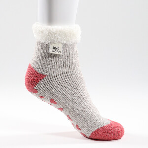 Ladies Heat Holder Lounge Relax Socks Grey