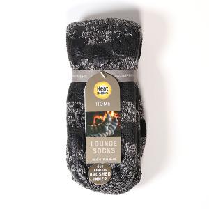 Men's Heat Holder Lounge Slipper Socks Black