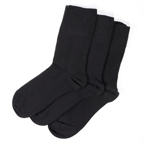 Ladies Gentle Grip 3Pack Diabetic Socks Black