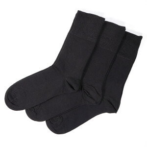 Men's Gentle Grip 3Pack Diabetic Socks Black