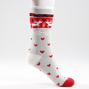Ladies Christmas Reindeer Heat Holder Lite Socks