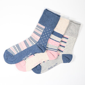 Ladies 3Pack Gentle Grip Socks Weekender