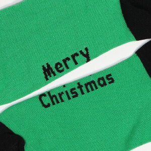 Men's Single Novelty Christmas Elf Suit Socks