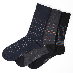 Men's 3Pack Gentle Grip Socks Urban Lair