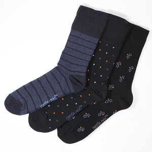Men's 3Pack Gentle Grip Socks Cubic Control