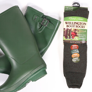 Men's Luxury Wellington Socks Green