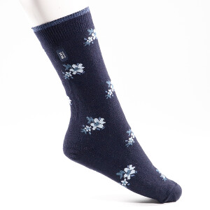 Ladies Ultra Lite Heat Holder Socks Navy