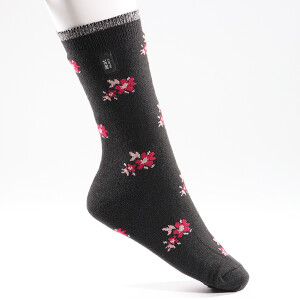 Ladies Ultra Lite Heat Holder Socks Charcoal