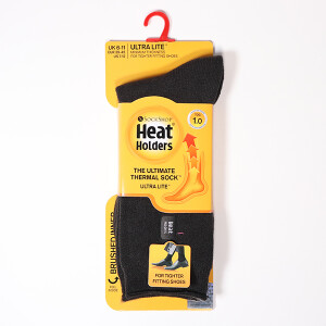Men's Ultra Lite Heat Holder Socks Twist Charcoal