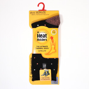 Ladies Ultra Lite Heat Holder Socks Black