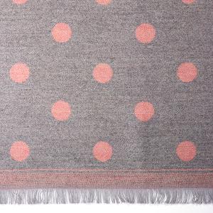 Ladies Jacquard Scarf Spot Light Grey Pink