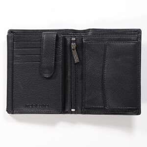 Mens Leather Notecase Black