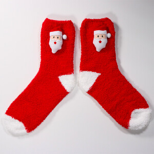 3D Novelty Christmas Socks In A Box Santa