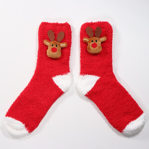 3D Novelty Christmas Socks In A Box Reindeer