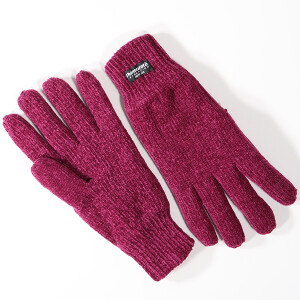 Ladies Chenille Thinsulate Glove Fuchsia