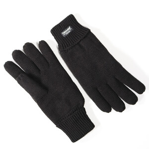 Men's Knitted Thinsulate Glove Black