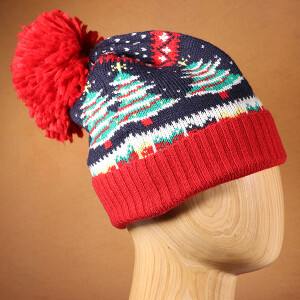 Men's Christmas Tree Fairisle Beanie