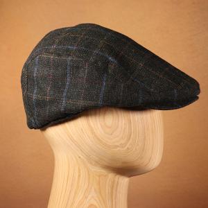 Men's Classic Check Flat Cap Olive