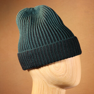 Mens Hat Ribbed Forest Black