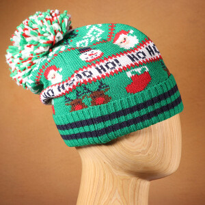 Men's Novelty Christmas Beanie Hat Ho Ho