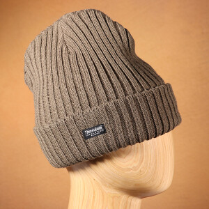 Men's Ribbed Thinsulate Beanie Hat Khaki
