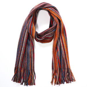 Men's Multicolour Fine Stripe Scarf