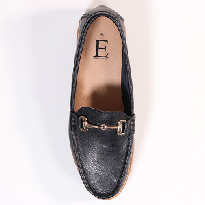 Ladies Classic Loafer With Snaffle Bar Trim Black