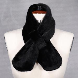 Ladies Faux Fur Tippet Black