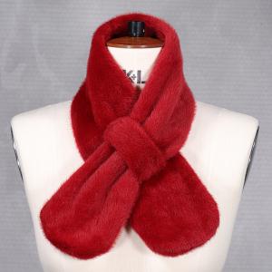 Ladies Faux Fur Tippet Dark Red