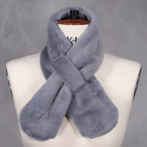 Ladies Faux Fur Tippet Grey