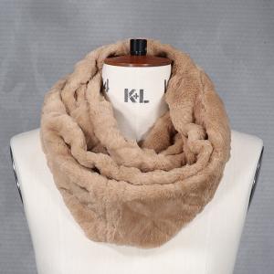 Ladies Faux Fur Double Wrap Snood Beige