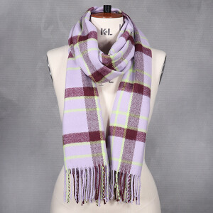 Ladies Woven Scarf Multi Coloured Lilac