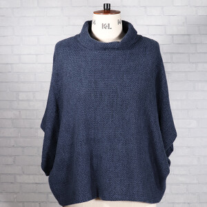 Cowl Neck Jumper Blue Jeans