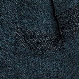 Cowl Neck Jacket Pockets Teal