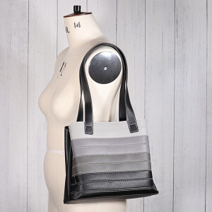 Ladies Contrast Stripe Shoulder Bag Black