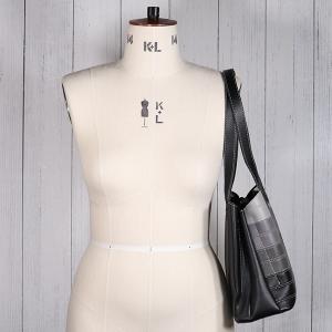 Ladies Contrast Stripe Shoulder Bag Black
