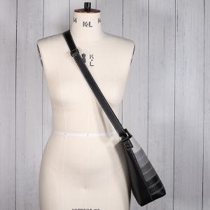 Ladies Contrast Stripe Cross Body Bag Black