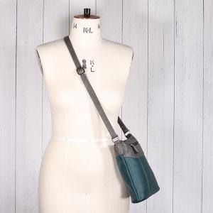 Ladies Multi Colour Cross Body Bag Grey Teal