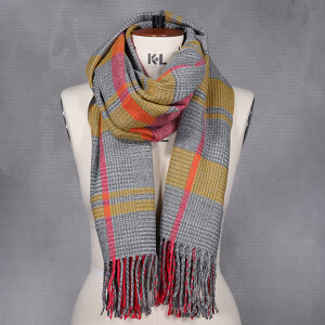 Ladies Woven Scarf Multi Coloured