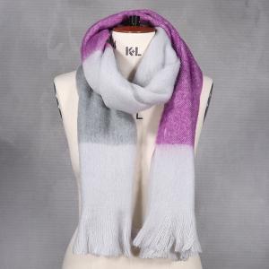 Ladies Stripe Blanket Scarf Lilac